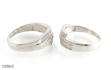 حلقه ازدواج نقره طرح هانا - عکس 3