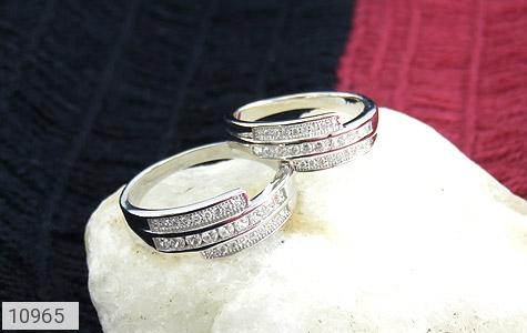 حلقه ازدواج نقره طرح هانا - عکس 5