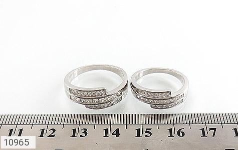 حلقه ازدواج نقره طرح هانا - تصویر 6