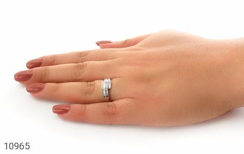 حلقه ازدواج نقره طرح هانا - عکس 7