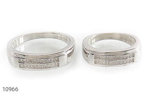 حلقه ازدواج نقره طرح تابان - تصویر 2