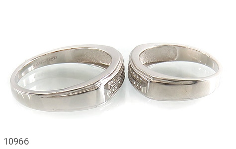 حلقه ازدواج نقره طرح تابان - عکس 3