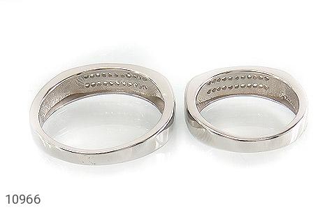 حلقه ازدواج نقره طرح تابان - تصویر 4