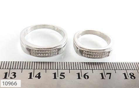 حلقه ازدواج نقره طرح تابان - عکس 7