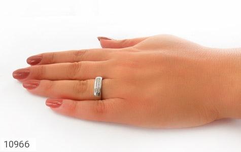 حلقه ازدواج نقره طرح تابان - تصویر 8