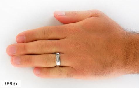 حلقه ازدواج نقره طرح تابان - عکس 9