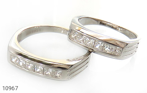 حلقه ازدواج نقره طرح یکتا - عکس 1