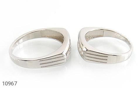 حلقه ازدواج نقره طرح یکتا - عکس 3