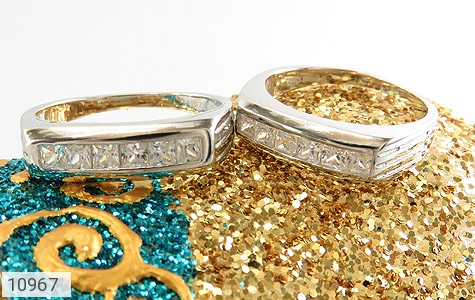 حلقه ازدواج نقره طرح یکتا - عکس 5