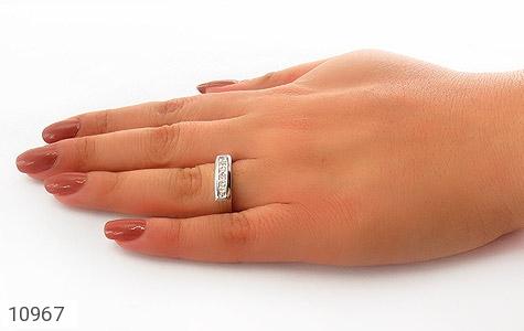 حلقه ازدواج نقره طرح یکتا - عکس 7