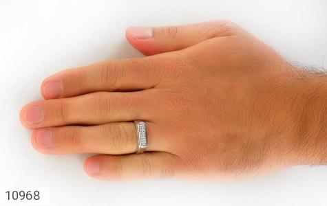 حلقه ازدواج نقره طرح همدم - عکس 9