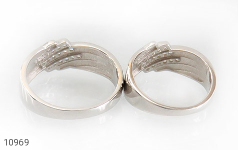 حلقه ازدواج نقره طرح مونس - تصویر 4
