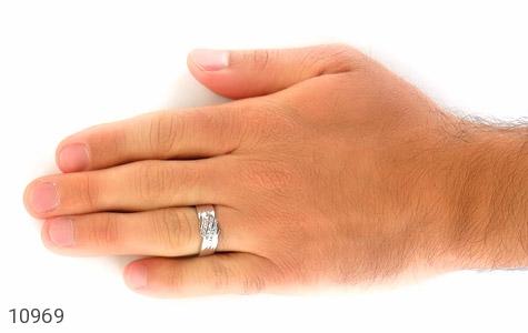 حلقه ازدواج نقره طرح مونس - عکس 9