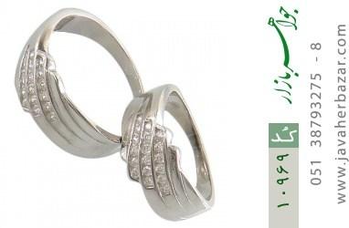 حلقه ازدواج نقره طرح مونس - کد 10969