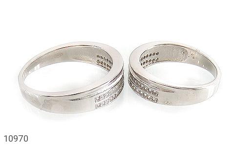 حلقه ازدواج نقره طرح نگار - عکس 3