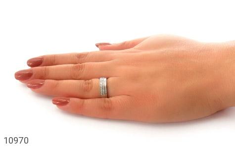 حلقه ازدواج نقره طرح نگار - عکس 7