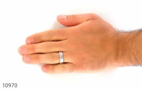 حلقه ازدواج نقره طرح نگار - تصویر 8