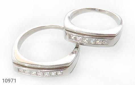 حلقه ازدواج نقره طرح محبوب - عکس 1