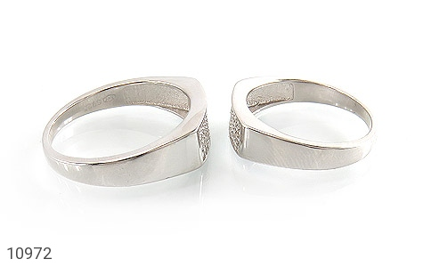 حلقه ازدواج نقره طرح سوده - عکس 3