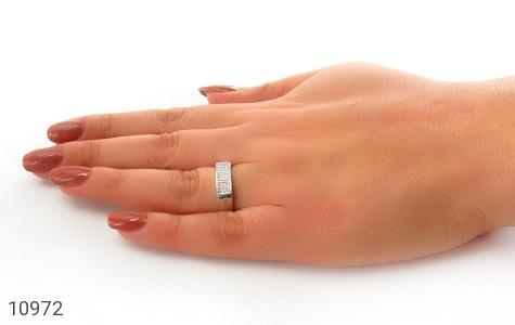 حلقه ازدواج نقره طرح سوده - عکس 7