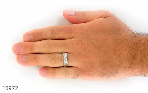 حلقه ازدواج نقره طرح سوده - تصویر 8