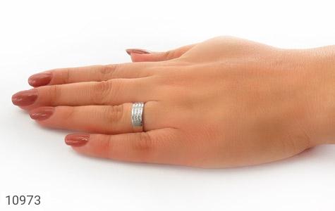 حلقه ازدواج نقره طرح نازی - عکس 7