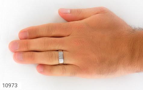 حلقه ازدواج نقره طرح نازی - تصویر 8