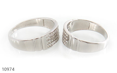 حلقه ازدواج نقره طرح اقلیما - عکس 3
