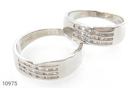 حلقه ازدواج نقره طرح جمیل - عکس 1