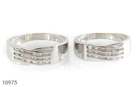حلقه ازدواج نقره طرح جمیل - تصویر 2