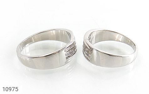 حلقه ازدواج نقره طرح جمیل - عکس 3