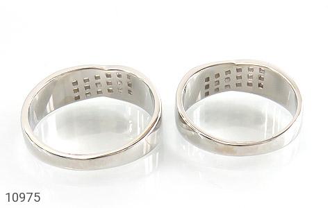 حلقه ازدواج نقره طرح جمیل - تصویر 4