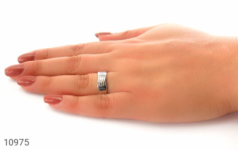 حلقه ازدواج نقره طرح جمیل - عکس 7