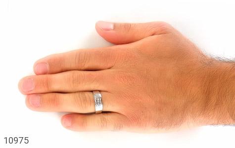 حلقه ازدواج نقره طرح جمیل - تصویر 8