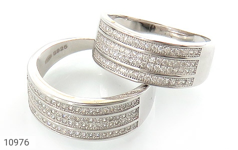حلقه ازدواج نقره طرح باشکوه - عکس 1