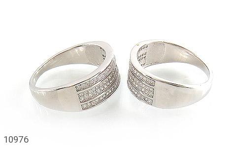 حلقه ازدواج نقره طرح باشکوه - عکس 3