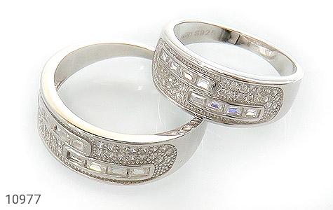 حلقه ازدواج نقره طرح رویا - عکس 1