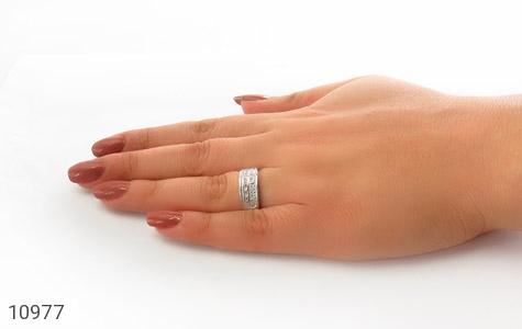 حلقه ازدواج نقره طرح رویا - عکس 7