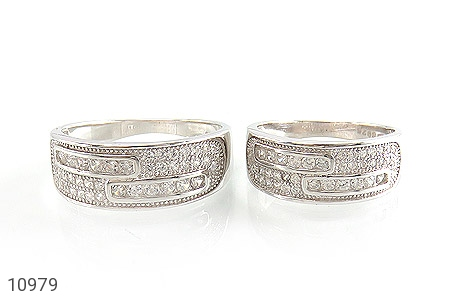 حلقه ازدواج نقره پرنگین - تصویر 2