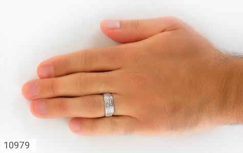 حلقه ازدواج نقره پرنگین - تصویر 8