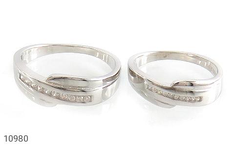 حلقه ازدواج نقره طرح اریب - تصویر 2