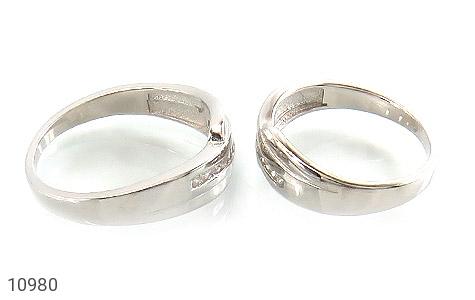 حلقه ازدواج نقره طرح اریب - عکس 3