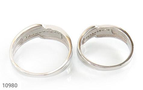 حلقه ازدواج نقره طرح اریب - تصویر 4