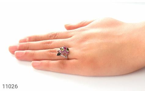 انگشتر تورمالین طرح تبسم زنانه - عکس 7