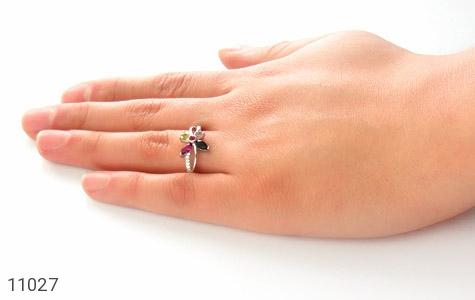 انگشتر تورمالین طرح شادی زنانه - عکس 7