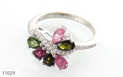 انگشتر تورمالین طرح جواهر زنانه - عکس 1