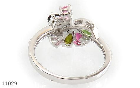 انگشتر تورمالین طرح جواهر زنانه - تصویر 4