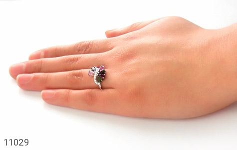 انگشتر تورمالین طرح جواهر زنانه - عکس 7