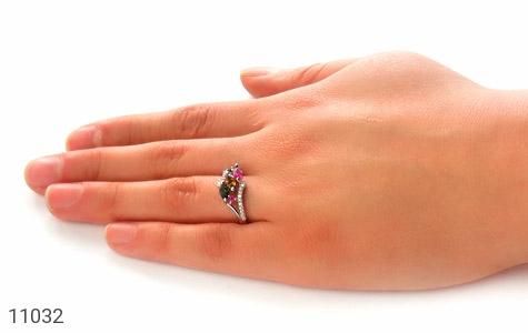 انگشتر تورمالین طرح سلنا زنانه - عکس 7