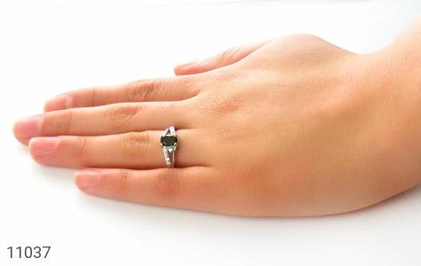 انگشتر تورمالین طرح یگانه زنانه - عکس 7